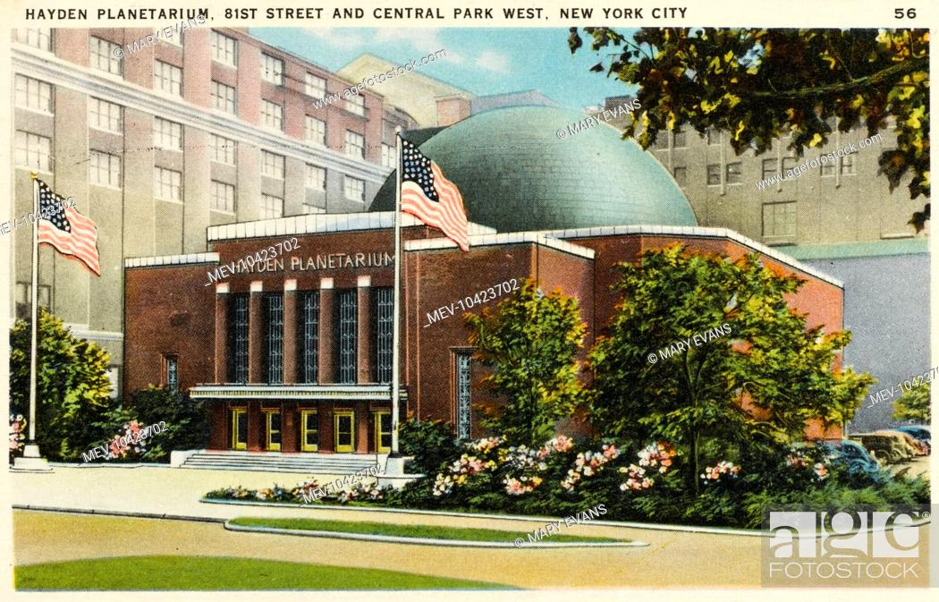 Stock Photo: Hayden Planetarium at 81st Street and Central Park West, New York City, America.