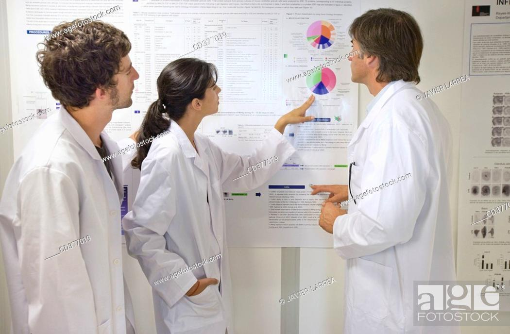 Stock Photo: Researchers.