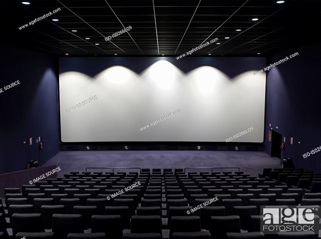 Stock Photo: Cinema screen.