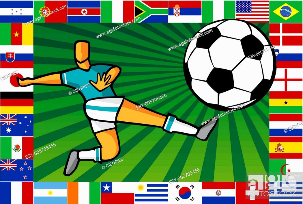 Stock Vector: Championship South Africa soccer cup poster.
