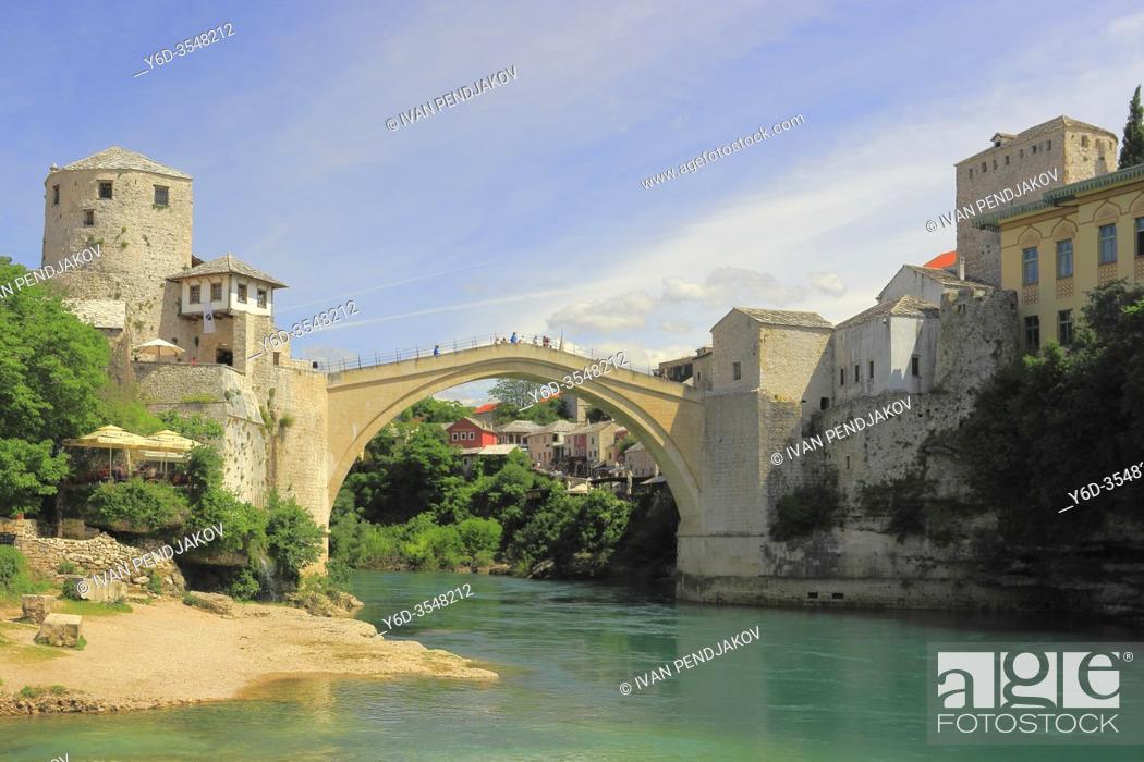 Stock Photo: Mostar, Herzegovina-Neretva Canton, Bosnia and Herzegovina.