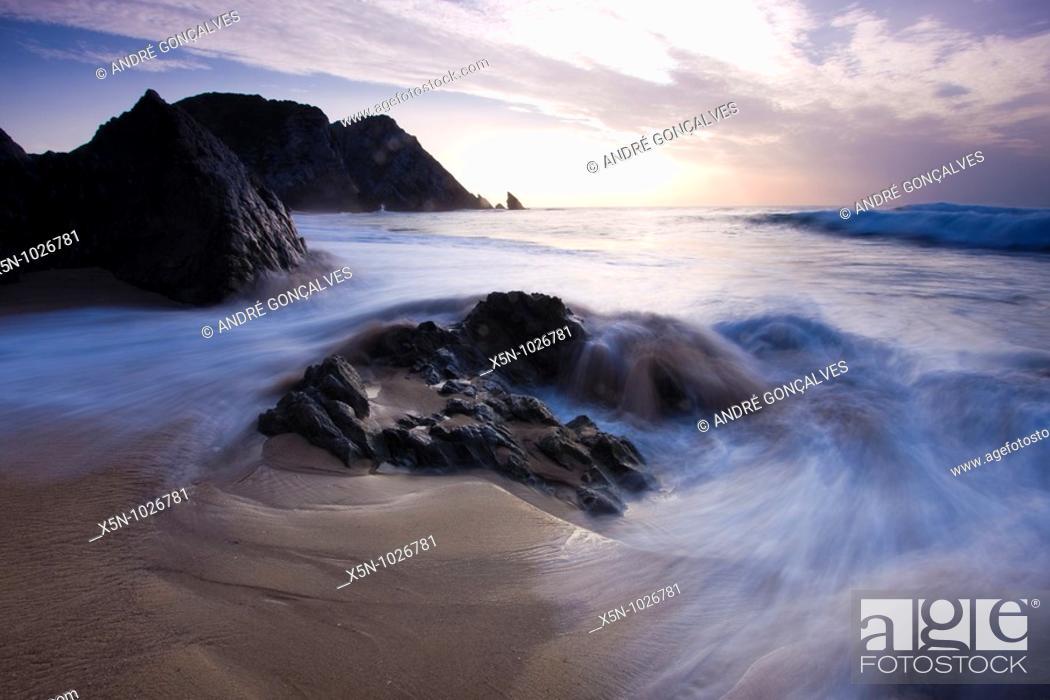 Stock Photo: Adraga Beach, Portugal.