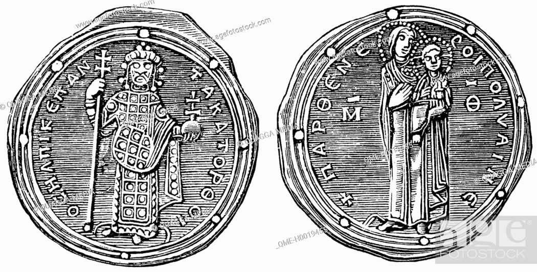 Byzantine coins  Silver coin (Romanus IV Diogenes), Stock