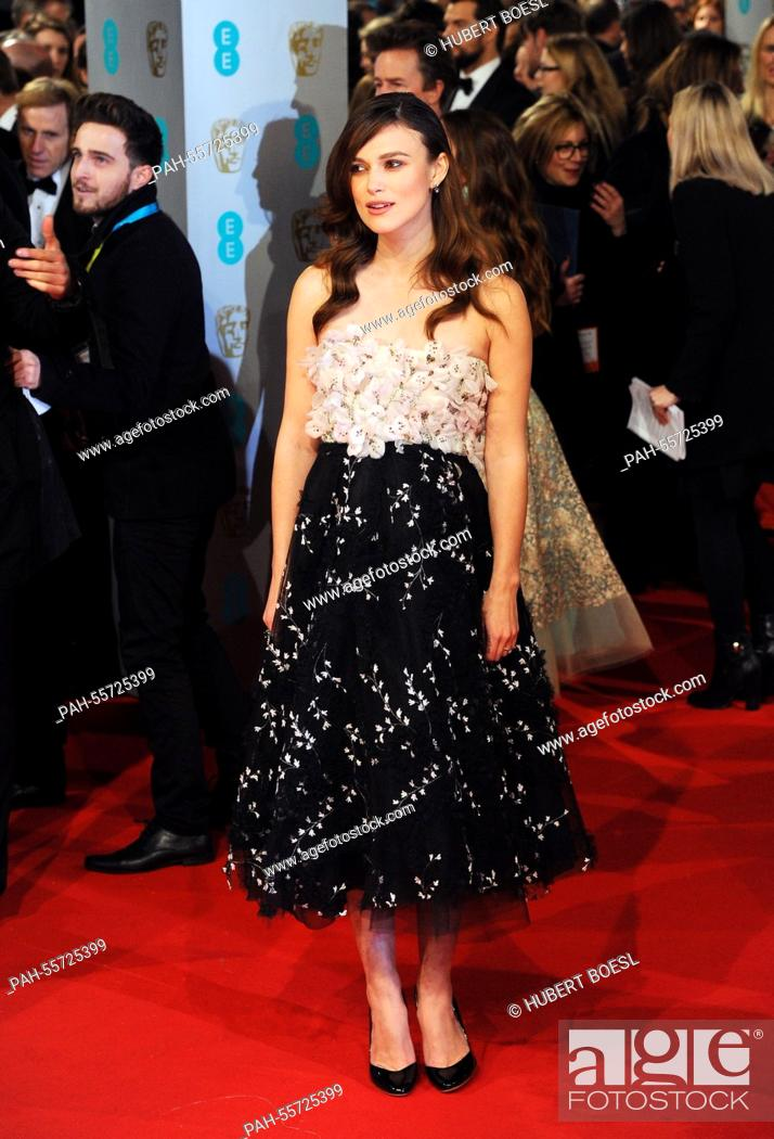 Imagen: Actress Keira Knightley arrives at the 67th annual EE British Academy Film Awards, Baftas, at Royal Opera House in London, Great Britain, on 08 February 2015.