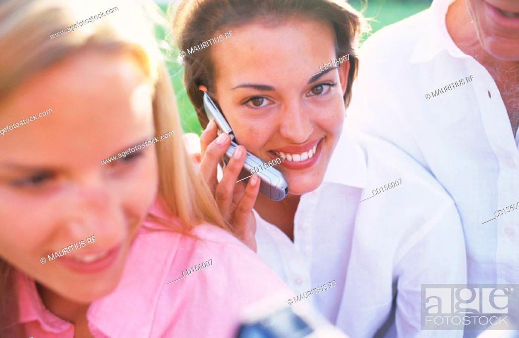 Stock Photo: Communication, Conversation, Friendship.
