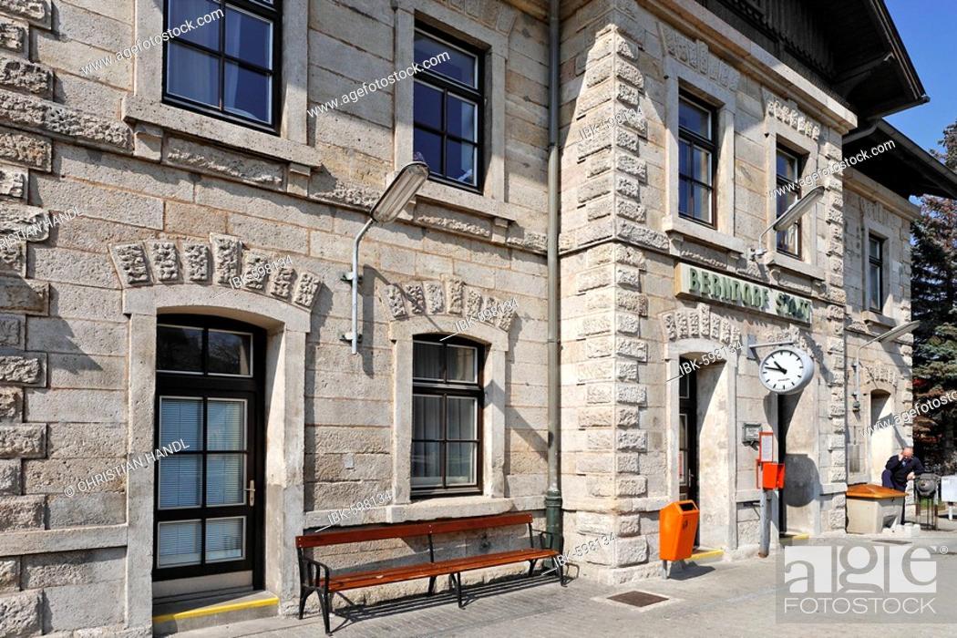 Stock Photo: Train station, Berndorf, Lower Austria, Austria, Europe.