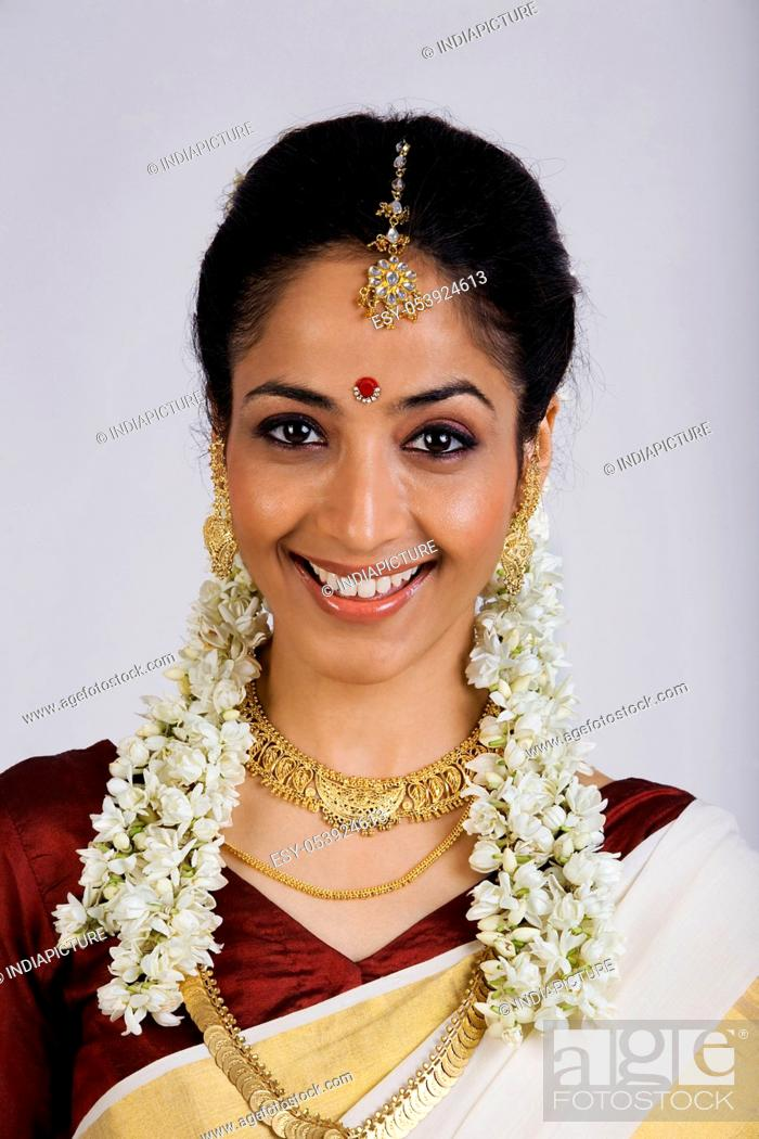 Stock Photo: Portrait of a South Indian woman.