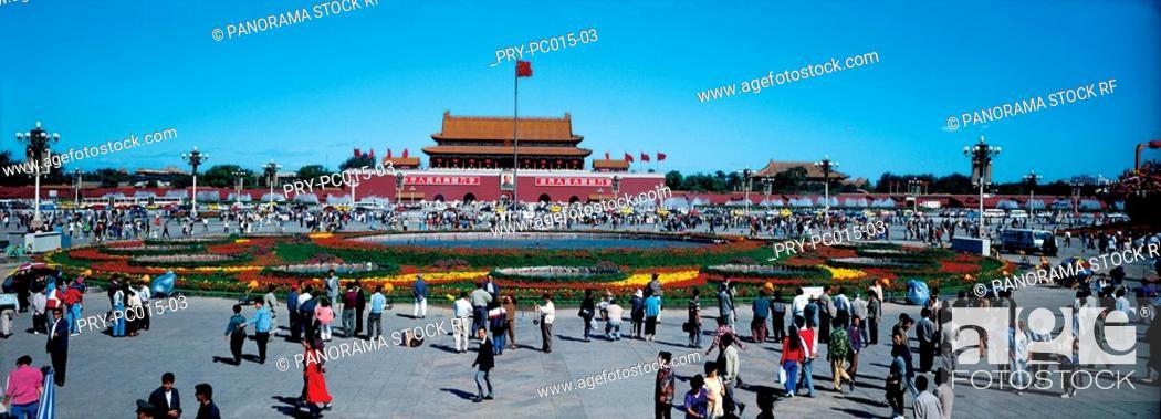 Stock Photo: Tian An Men Square.