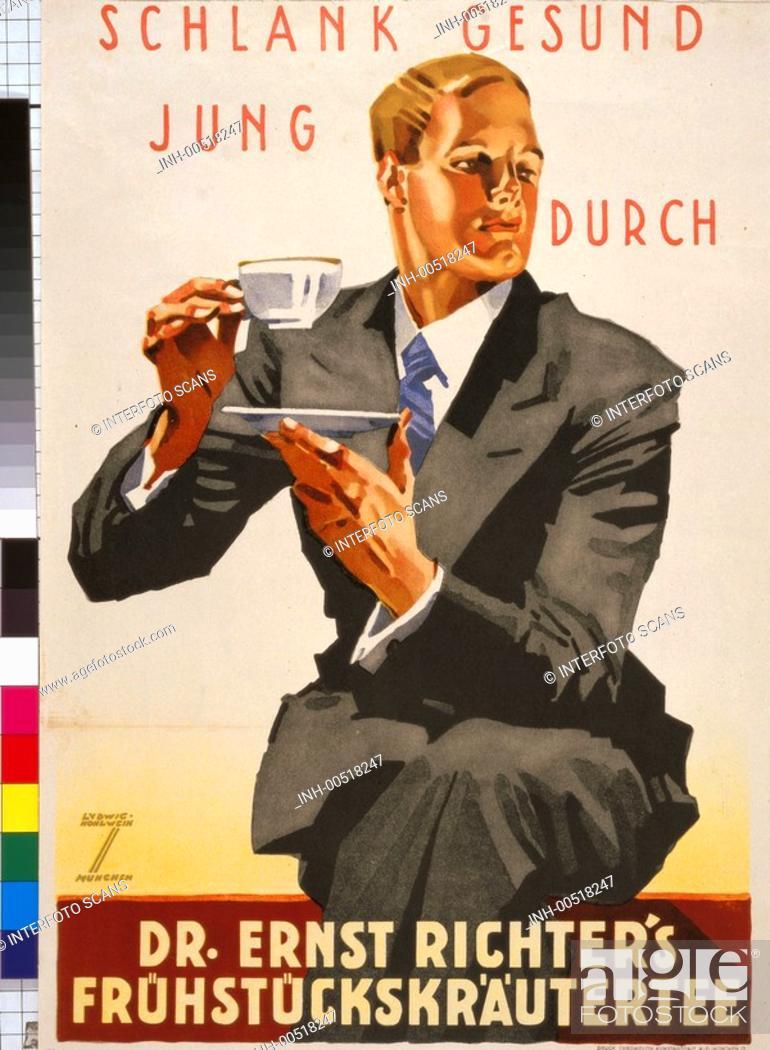 Ü SG hist , Werbung, Getränke, Kräutertee, Firma Dr Ernst Richter ...