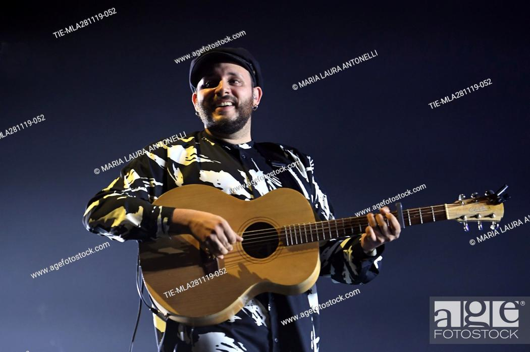 Stock Photo: Wrongonyou Marco Zitelli opens the Mika' s concert at the Sport Palace, Rome, ITALY- 27-11-2019.
