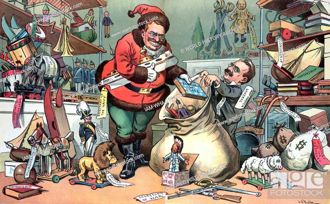 Santa Claus elect preparing for Christmas\' President Theodore ...
