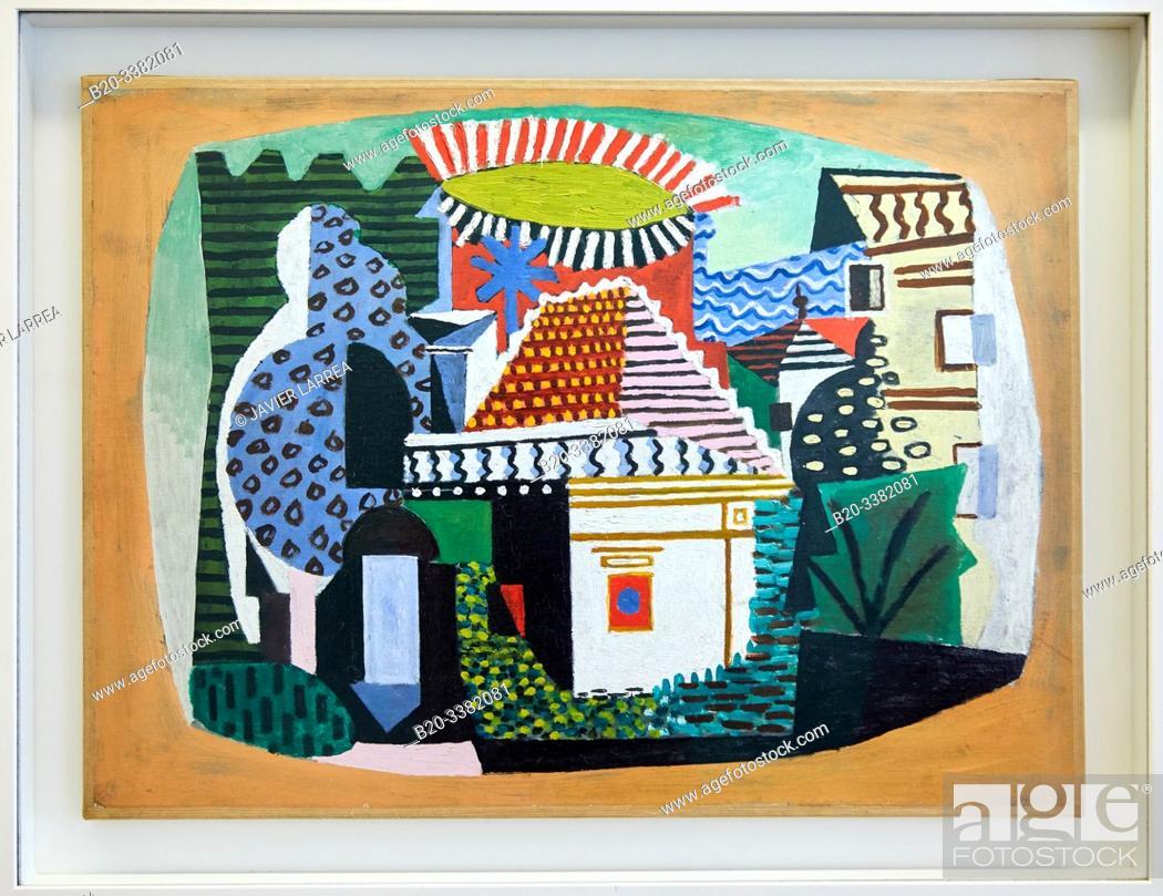 """Stock Photo: """"Paysage de Juan-les-Pins"""", 1920, Pablo Picasso, Picasso Museum, Paris, France, Europe."""