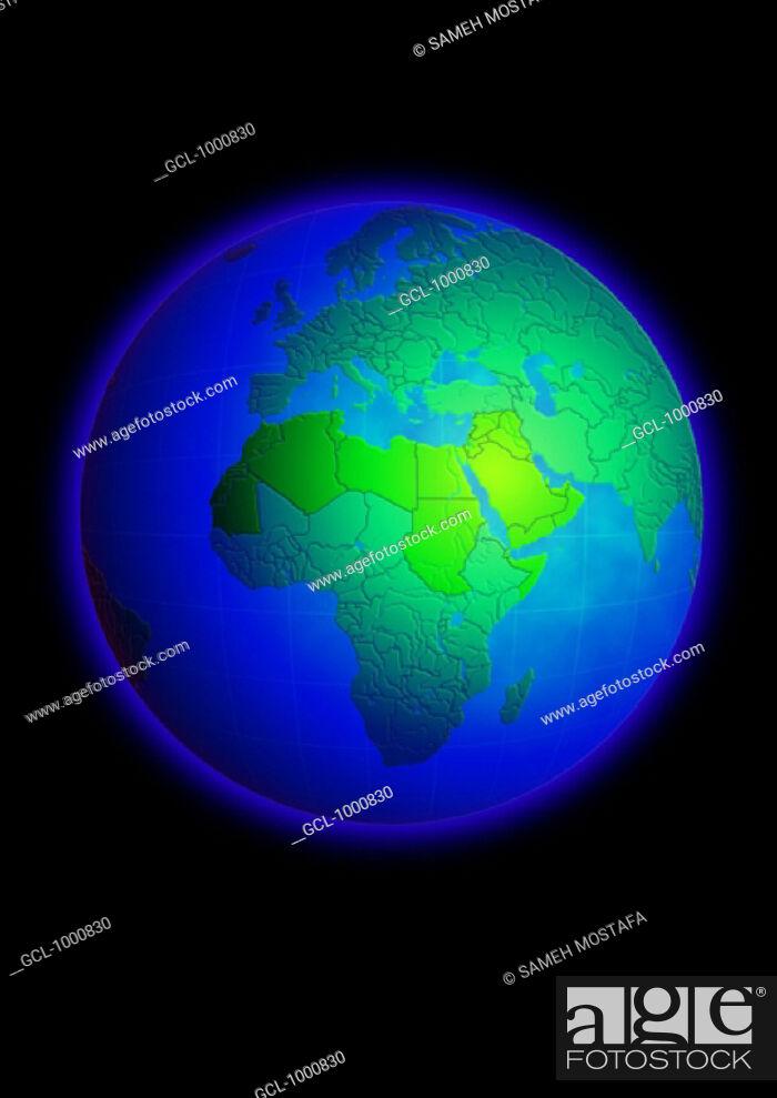 Stock Photo: Arab Countries on Globe.