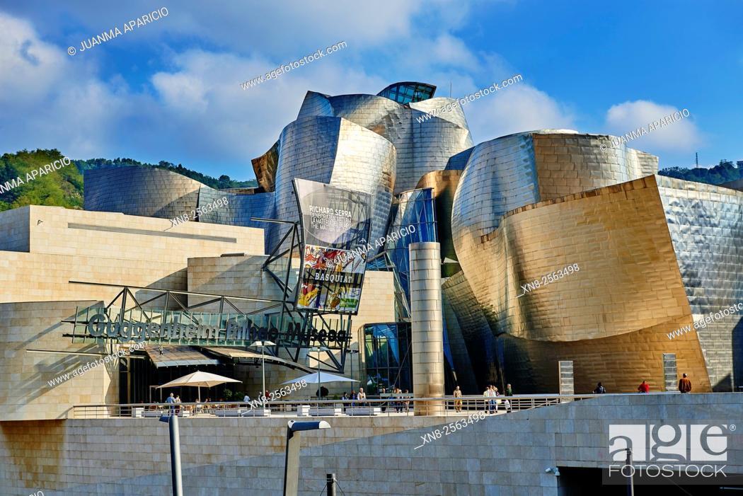 Photo de stock: Guggenheim Museum, Bilbao, Biscay, Basque Country, Euskadi, Euskal Herria, Spain, Europe.