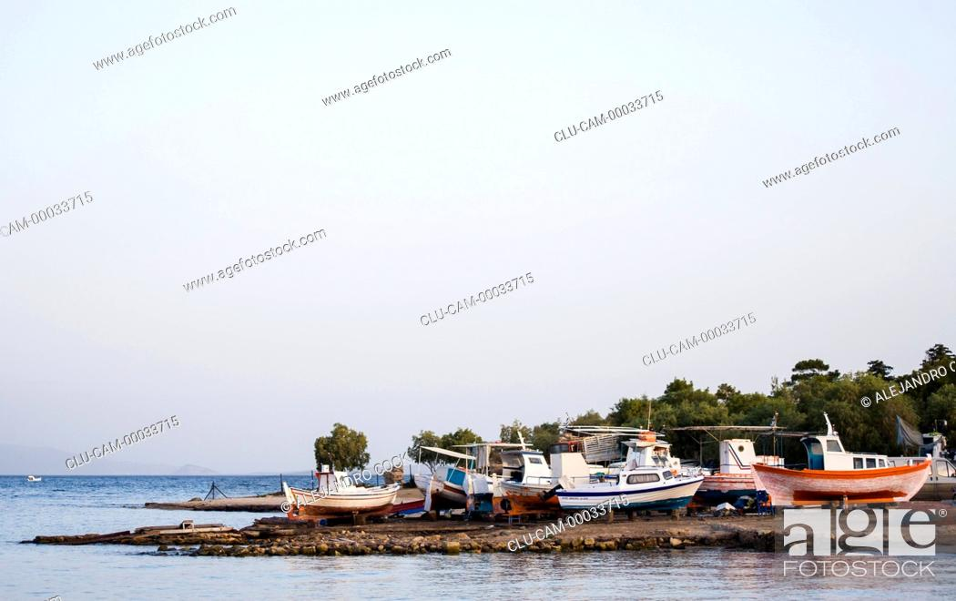 Stock Photo: Boats in the Aegina of Island, Greece, Western Europe, Greece, Western Europe.