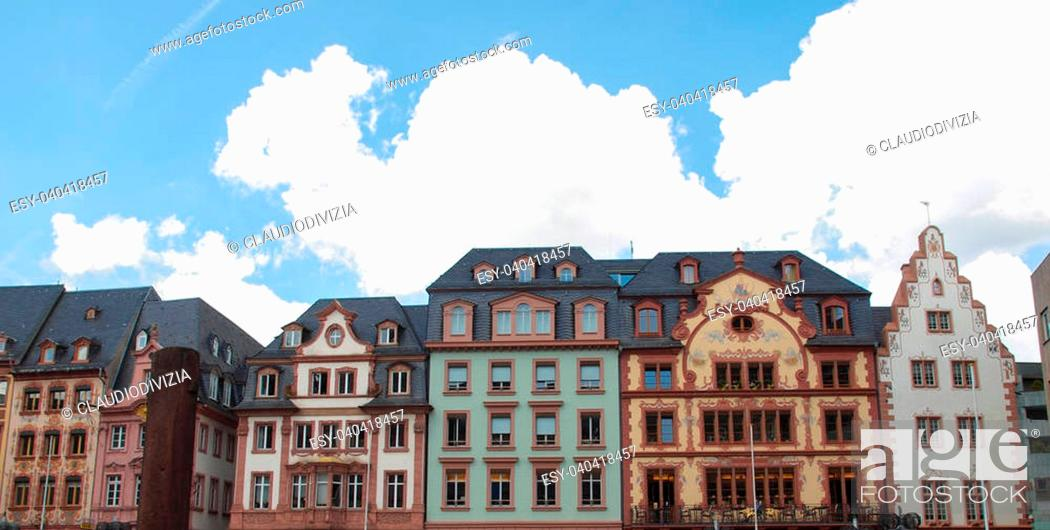 Stock Photo: Mainzer Altstadt old town in Mainz Germany.
