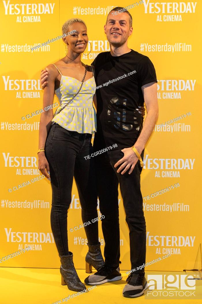 Imagen: Didi, Max Brigante during the photocall of film ' Yesterday ' in Milan, ITALY-20-06-2019.