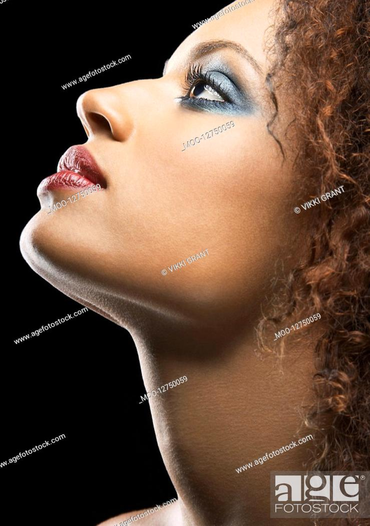 Stock Photo: Beautiful Young Woman profile.