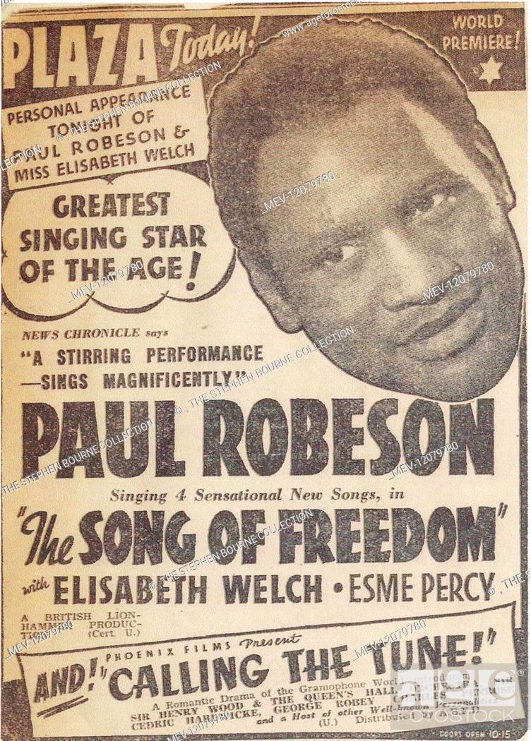 Song of Freedom poster  Paul Robeson (1898-1976) African
