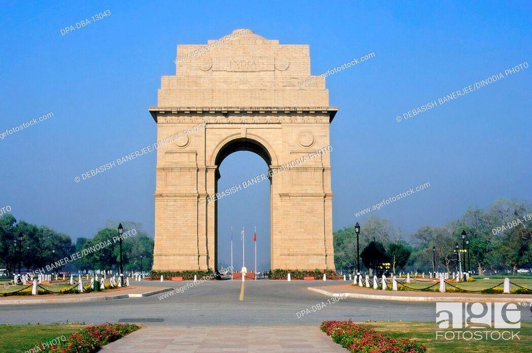 Stock Photo: India Gate, New Delhi, India.