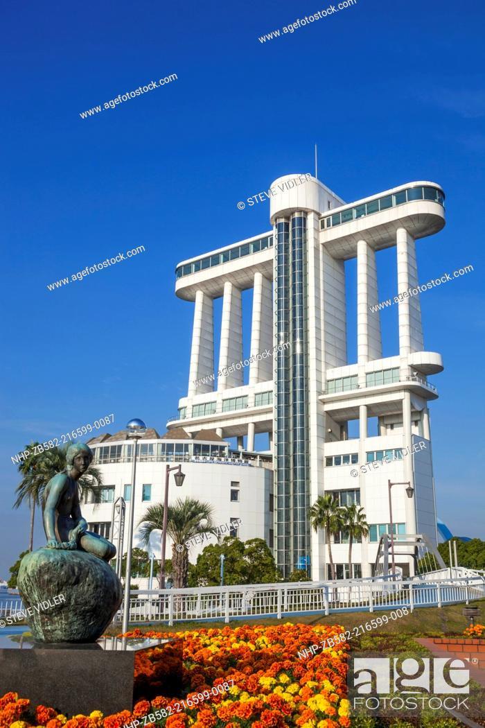 Stock Photo: Japan, Honshu, Aichi, Nagoya, Nagoya Port, Nagoya Port Building.