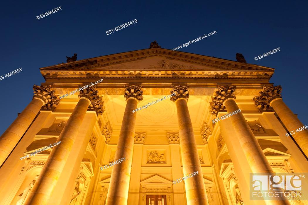 Stock Photo: Franzosischer Dom (French Church), Berlin's Gendarmenmarkt.