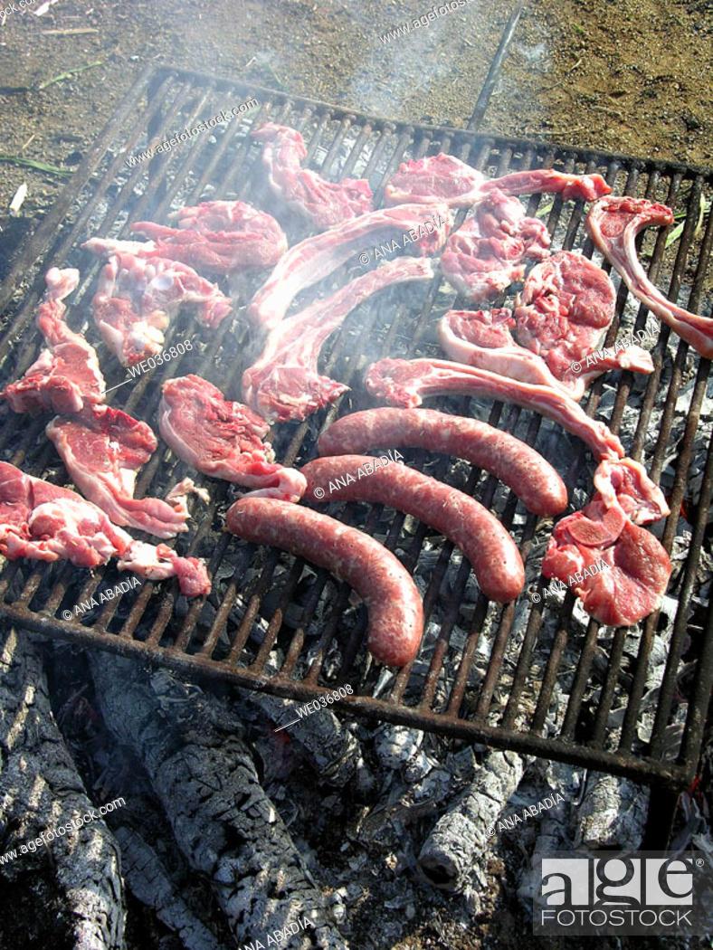 Stock Photo: Barbecue.