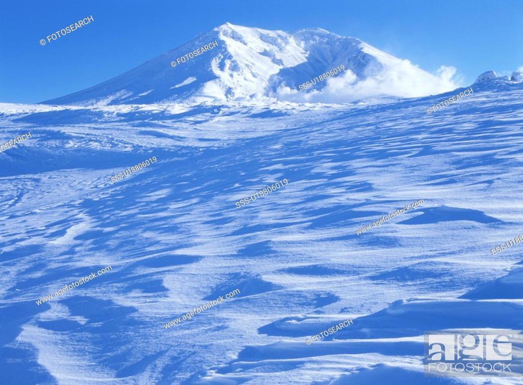 Stock Photo: Mt. Asahidake In Winter.