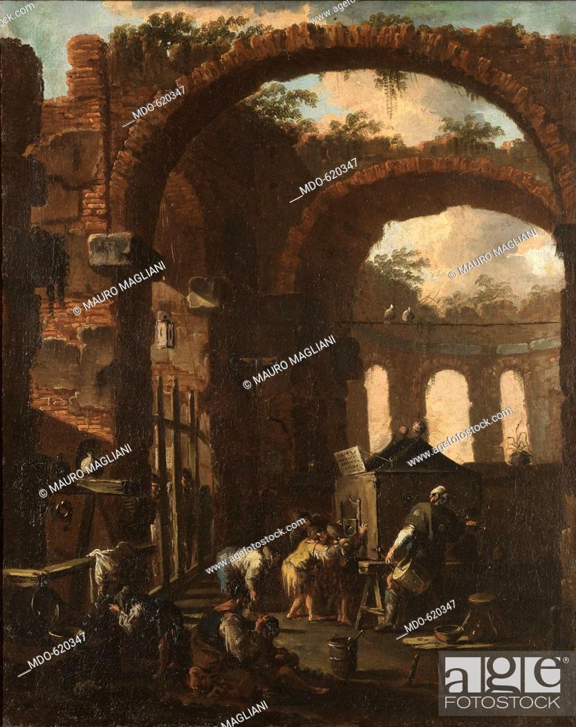 Stock Photo - Ruins with Children Looking at the Magic Lantern (Rovine con  bambini che guardano la lanterna magica) 041d04f8b58