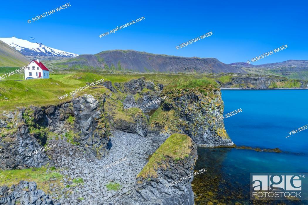 Stock Photo: Port Arnarstapi, Arnarstapi, Snaefellsnes Peninsula, Iceland.