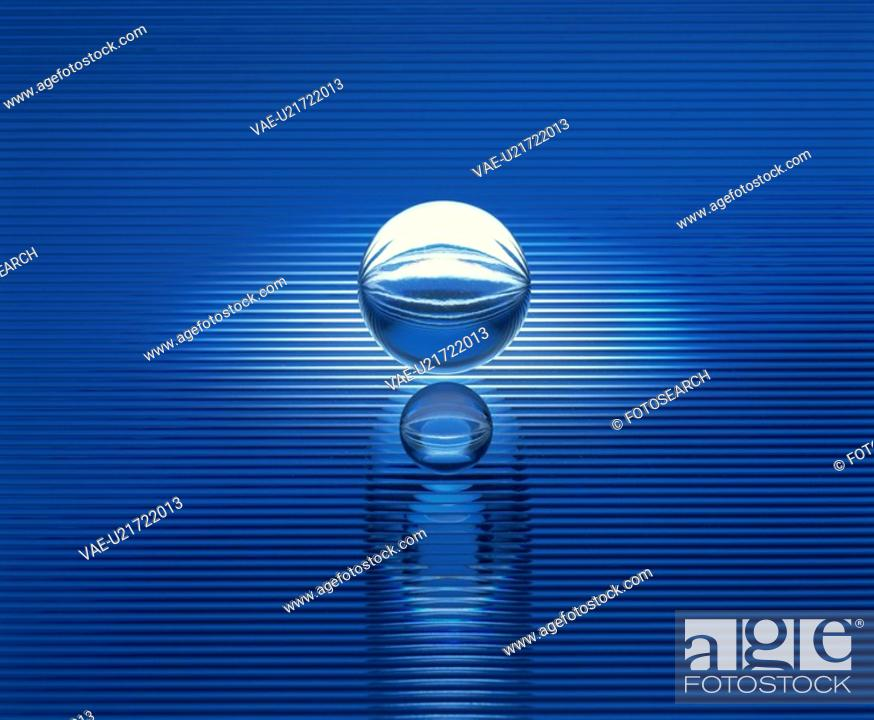 Stock Photo: The Sphere Of A Crystal.
