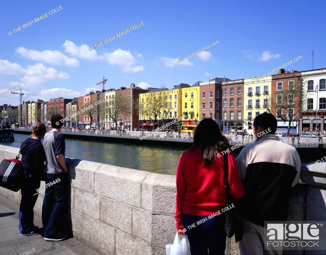 Stock Photo: River Liffey, Dublin.