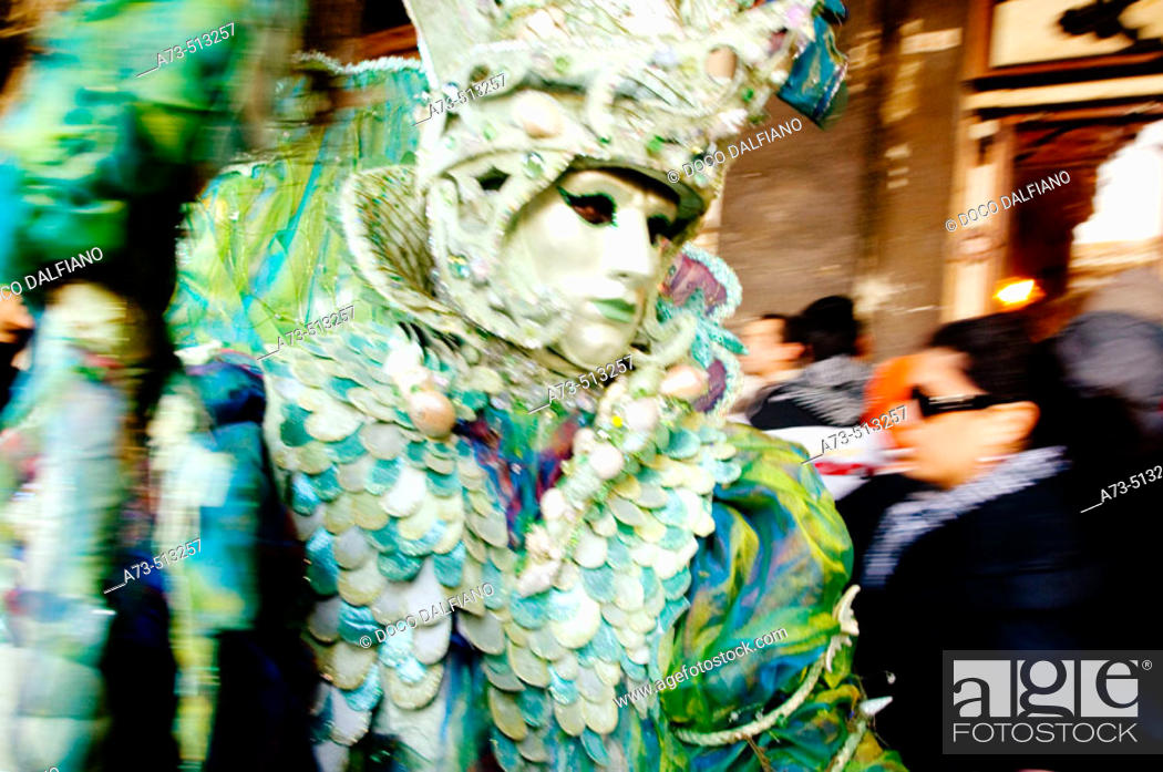 Stock Photo: Carnival at San Marco square. Venice. Veneto. Italy.