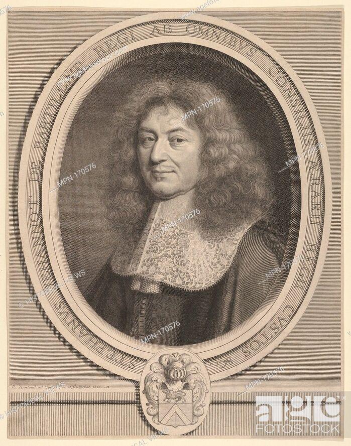 Imagen: Étienne Jehannot de Bartillat. Artist: Robert Nanteuil (French, Reims 1623-1678 Paris); Artist: After Pierre Mignard (French, Troyes 1612-1695 Paris); Date: ca.