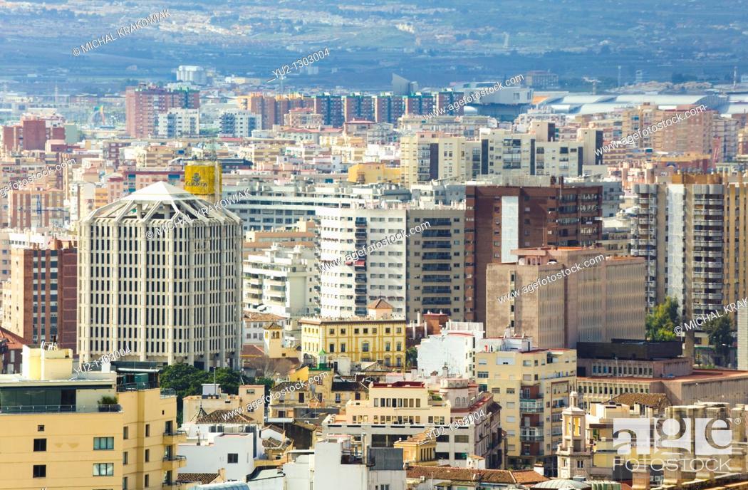 Stock Photo: View on Malaga downtown.