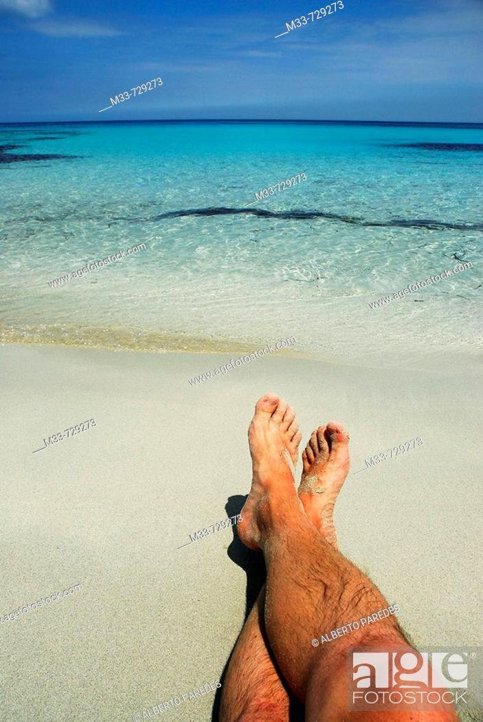 Stock Photo: Sa Roqueta beach, Formentera. Balearic Islands, Spain.