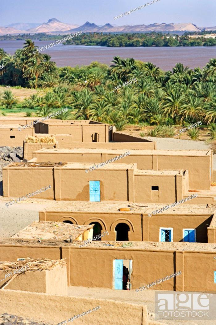Stock Photo: Nile River near Sesebi. Upper Nubia, Sudan.
