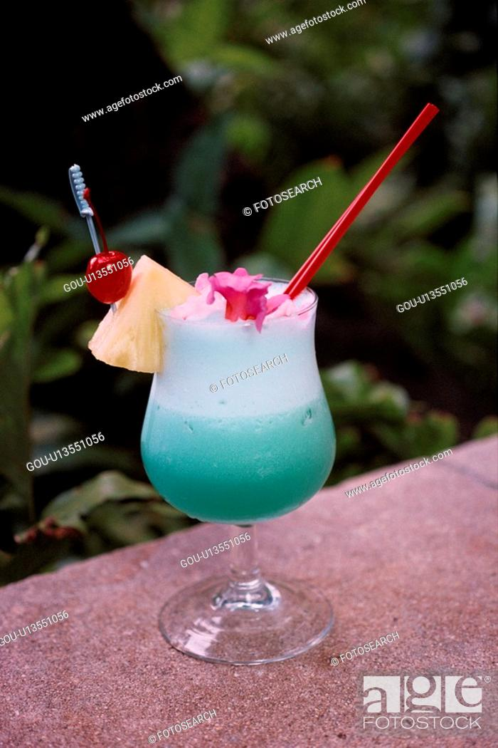 Stock Photo: Green Cocktail.