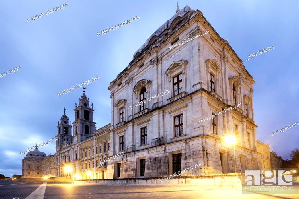 Stock Photo: Mafra National Palace.
