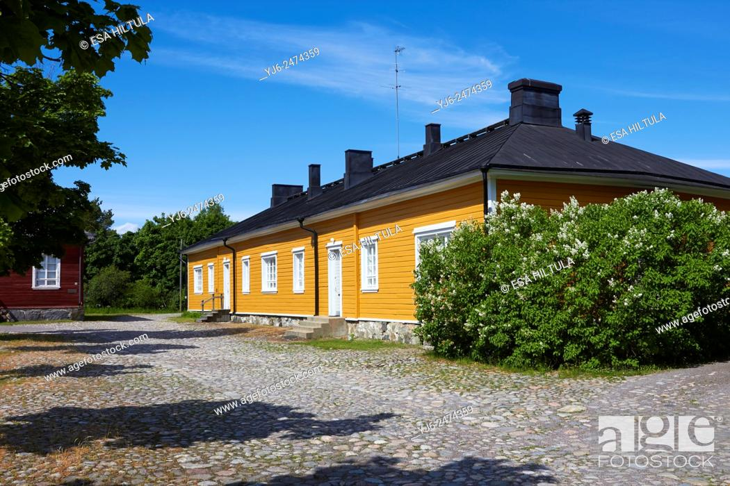 Stock Photo: Old building at the Fortress of Lappeenranta.