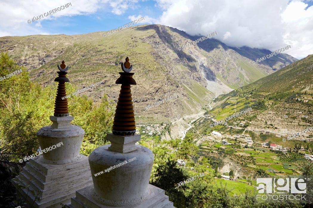 Stock Photo: Keylong, Lahaul Valley, Himachal Pradesh, India.