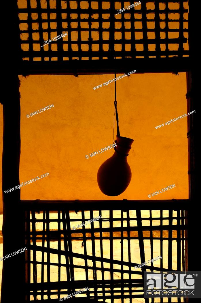 Stock Photo: Water bottle hanging in Nizwa Fort, Oman, Middle East.