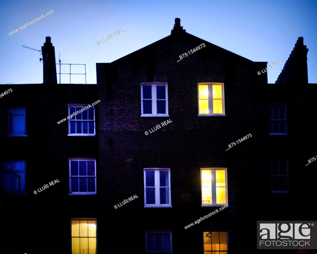 Stock Photo: houses in South Kensington, London, uk.