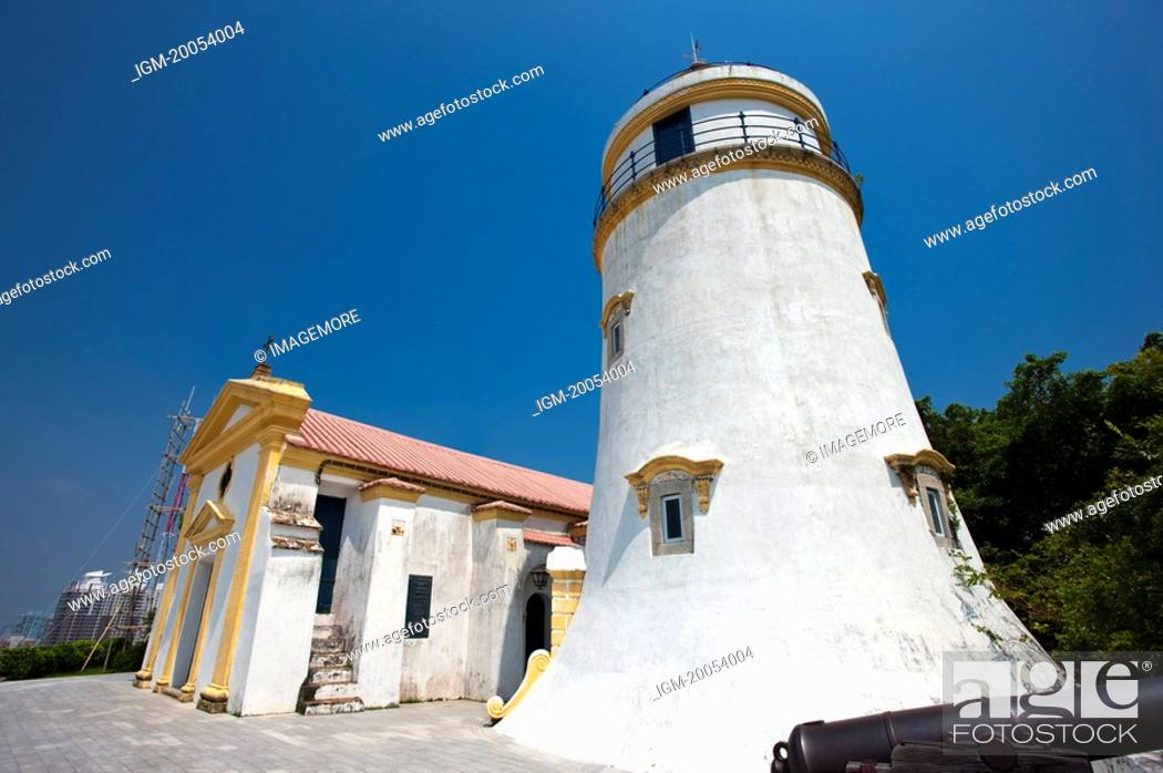 Stock Photo: China, Macou, Guia Lighthouse, Guia Chapel, UNESCO, World Cultural Heritage.