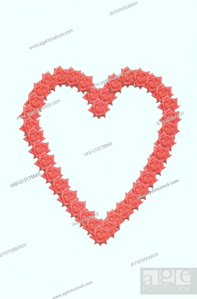 Stock Photo: The Heart Made With The Red Rose.