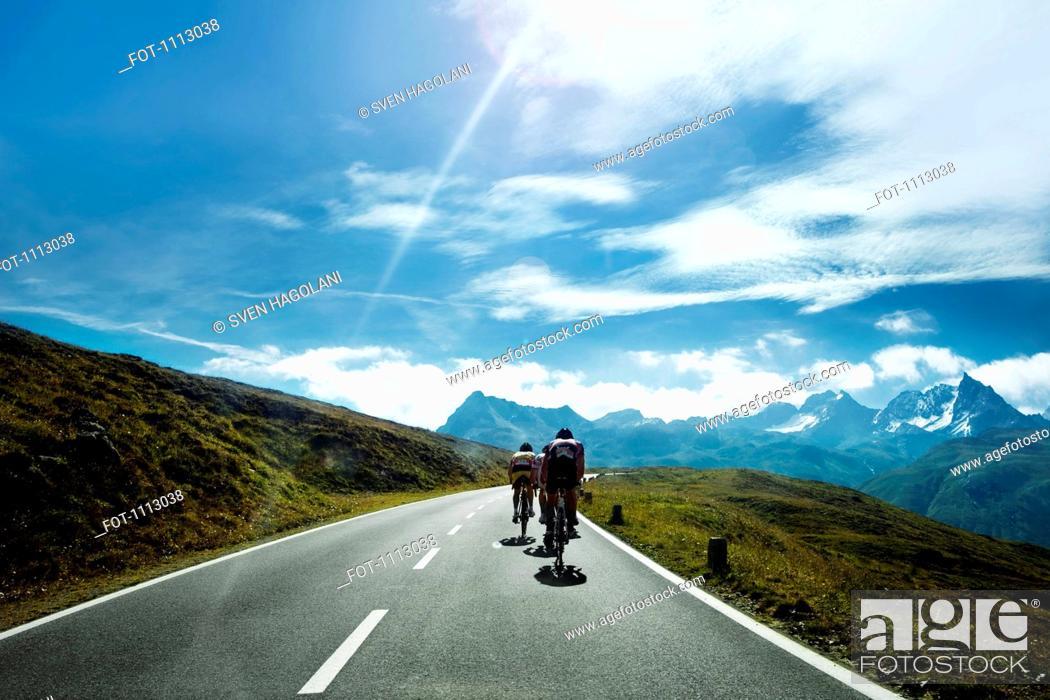 Stock Photo: Cyclists on a mountain road, Tirol, Austria.