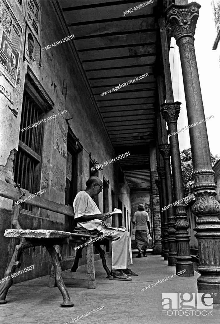 Two old men at Dhamrai, Manikganj, Bangladesh 1996 They