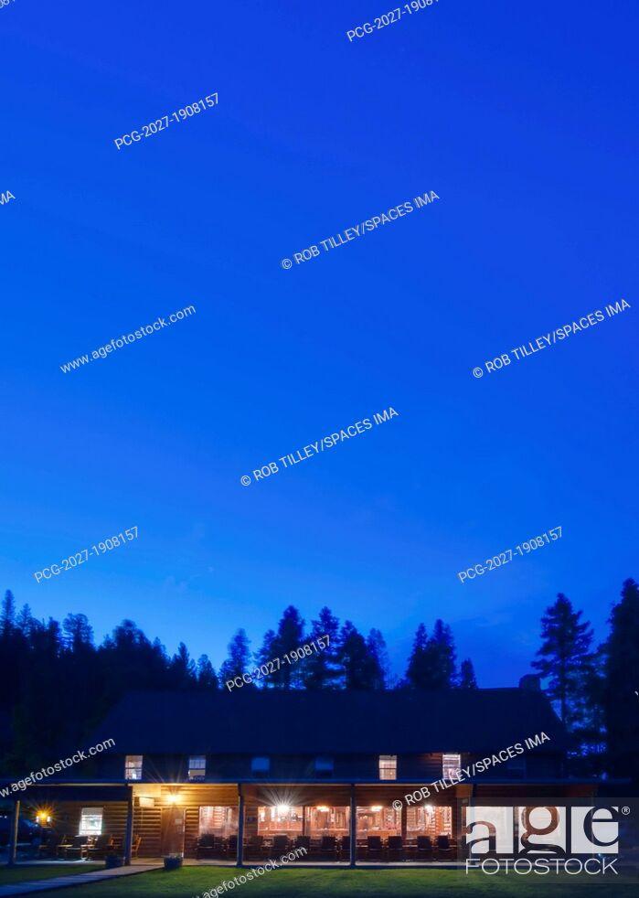 Stock Photo: Redfish Lake Lodge.