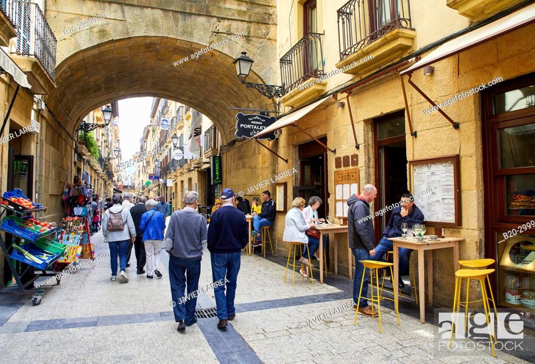Stock Photo: Bar Restaurante Portaletas, Parte Vieja, Old Town, Donostia, San Sebastian, Gipuzkoa, Basque Country, Spain.