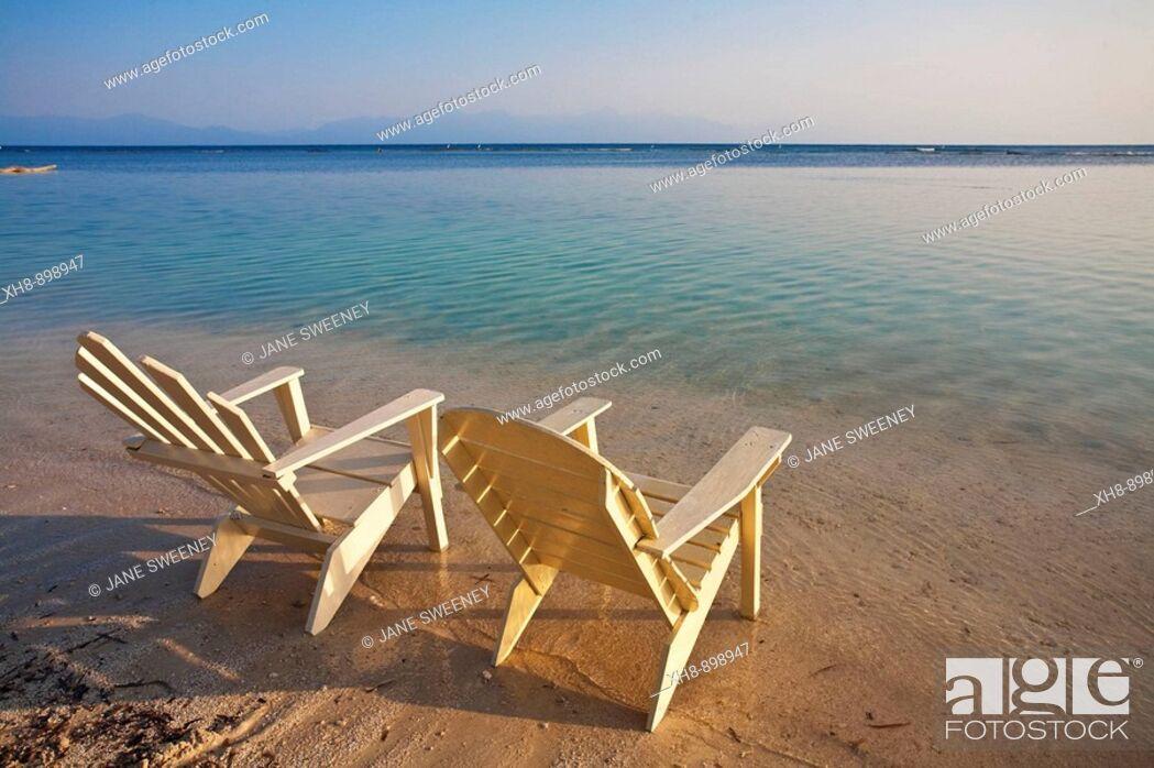 Stock Photo: Bando Beach, Utila, Bay Islands, Honduras.